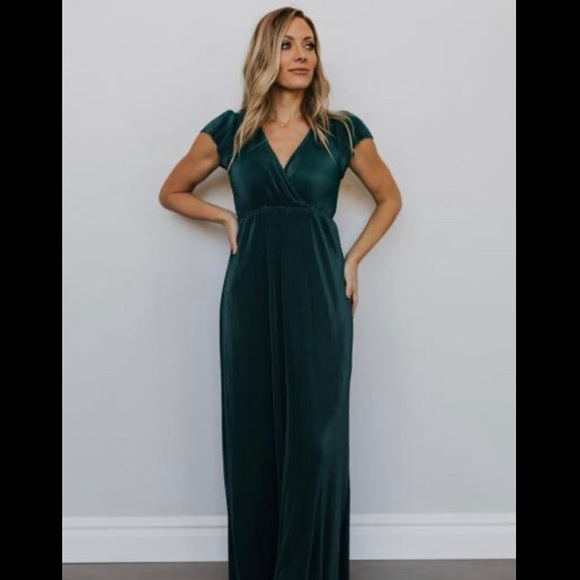 Baltic Born Dresses & Skirts - Baltic Born Athena Pleated Maxi Dress in Jade